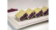 Blueberry Cheesecake Fudge enrobed in white chocolate