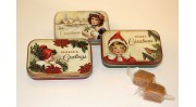 3 x Vintage Christmas Tins