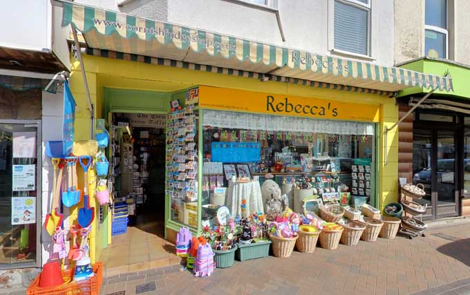 Exterior of The Cornish Fudge Shop - Rebeccas